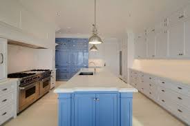 carrara marble subway tile kitchen backsplash 25 blue and white kitchens design ideas designing idea