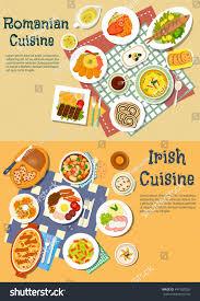 cuisine est cuisine dishes served เวกเตอร สต อก 447582028