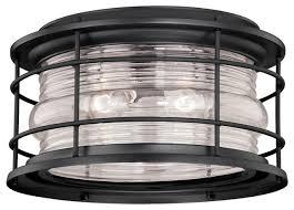 Outdoor Ceiling Lights - vaxcel lighting t0167 hyannis 2 light flush mount outdoor ceiling