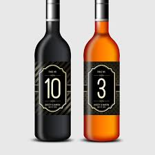 gold wine bottle table numbers vintage style gold black wine bottle labels table numbers