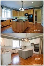 granite countertops paint kitchen cabinets before and after