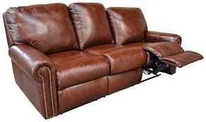Reclining Sofas Leather Furniture Omnia Leather Fairmont Reclining Sofa Top Grain