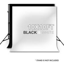 white backdrop 10x10ft photography photo studio black white backdrop