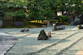 Rock Garden Zen Rock Garden Of Zen Temple Kyoto Japan Stock Photo Image Of