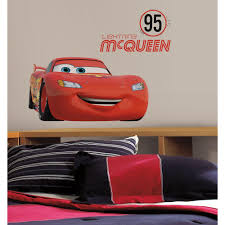 roommates 5 in x 19 in cars lightning mcqueen number 95 peel cars lightning mcqueen number 95 peel and