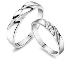 cheap promise rings for men water wave diamond s matching promise rings in 925 sterling