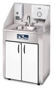 Monsam White SingleBasin Stainless Steel Portable Sink Pse - Portable kitchen sinks
