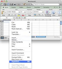ms excel 2011 for mac create a hyperlink to another cell