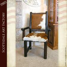 cow hide dining chairs cowhide western furniture co animal hide