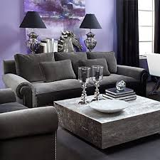 purple livingroom ideas gray and purple living room design purple