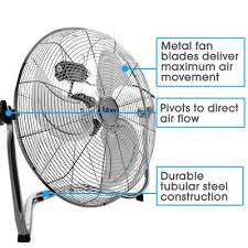 20 high velocity floor fan velocity floor fan large 20 inch 50cm 110w max power chrome fan