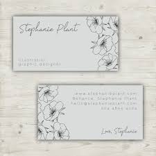 floral business card template with hand drawn elements vector