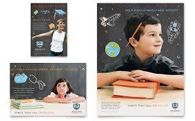 tri fold school brochure template education flyer templates free education foundation