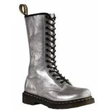 womens boots journeys womens dr martens 14 eye zip boot silver at journeys shoes