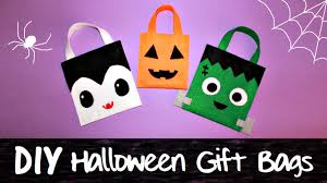 halloween bags 3 diy halloween gift bags jack o u0027 lantern vampire frankenstein