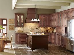 Medium Brown Kitchen Cabinets by Medium Wood Kitchen Cabinets With Contrasting Dark Wood Kitchen