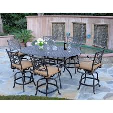 Outdoor  Garden Nice Black Iron Patio Outdoor Dining Set With - 7 piece outdoor dining set with round table