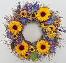 sunflower wreath seasonal wreaths seasonal door decor wreaths for door