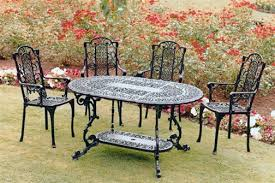 White Cast Iron Patio Furniture Decor Outdoor Wrought Iron Patio Furniture With Elegant White