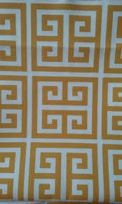 home decor fabric yellow and white greek key premier prints