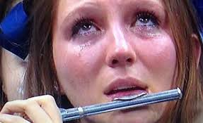 Crying Girl Meme - crying villanova band girl becomes piccologirl flutegirl meme