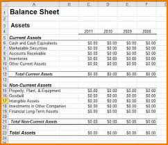Small Business Balance Sheet Template Classified Balance Sheet Template Excel