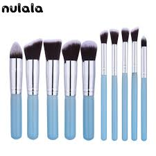 blue makeup brush set promotion shop for promotional blue makeup