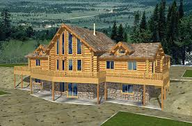 Blueprints For Cabins Log Cabin Plans With Basement Webshoz Com