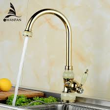 Kitchen Faucet Brass Kitchen Faucets Brass With Marble Kitchen Crane Single Handle Gold