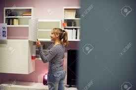 100 young home decor young hispanic woman shopping for