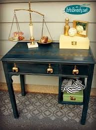 the golden elephant navy and gold desk makeover hometalk