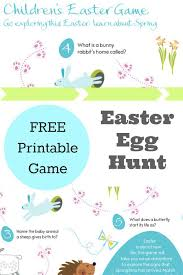 easter scavenger hunt fun with our easter egg hunt clues game in the playroom