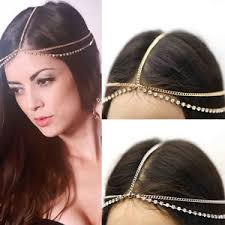 chain headband new fashion womens rhinestone metal chain headband headpiece