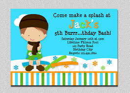 indoor pool party invitation winter pool party birthday invitation