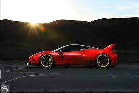 gold ferrari 458 458 italia savini wheels