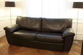 canapé lit en cuir canapé lit ikea vreta cuir noir
