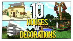 Minecraft Home Decorations 10 Minecraft Starter Houses And Decorations You Need To See Youtube