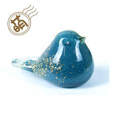 creative small ornaments desktop animal ornaments glass birdie