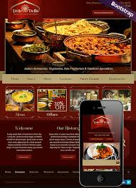 indian restaurant html website template best website templates