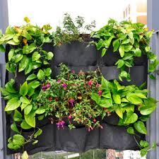 vertical gardening hanging wall 12 pockets planting bags seedling