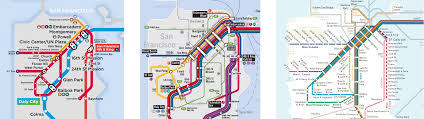San Francisco Transportation Map by My Favorite Regional Transit Maps