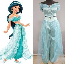 Cinderella Halloween Costume Adults Hotting Aladdin Jasmine Princess Cosplay Costume Custom