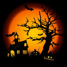 halloween 1978 background cartoon halloween topic scene by clairev toon vectors eps 38366