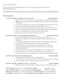 formidable network tech resume examples with additional pc