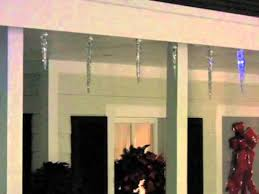 led shooting star lights gemmy lightshow shooting star white led icicle lights youtube