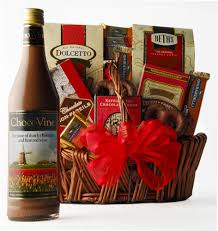 wine and chocolate gift baskets chocovine say it with chocolate wine gift basket wine