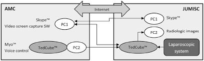 wearable technology in an international telementoring setting