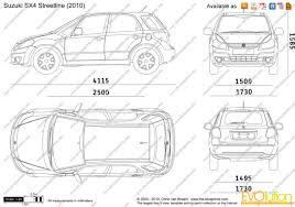 the blueprints com vector drawing suzuki sx4 streetline