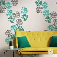 stylist and luxury wall stencil art with home interior design
