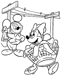 mickey und minnie mouse coloring page coloring pages foto von